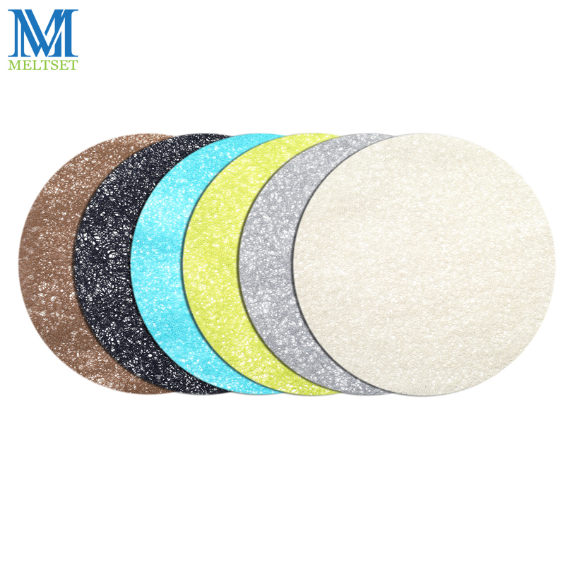 1PC 38CM Placemats For Round Table 6 Colors Dining Table