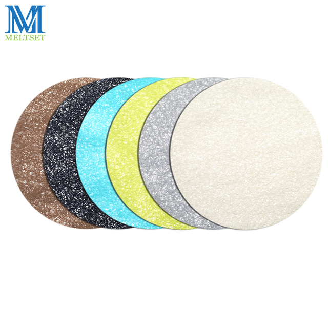 1pc 38cm Placemats For Round Table 6 Colors Dining Mats Plastic Heat Resistant