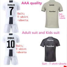 7f3caa33d High Quality Home away Juventuses Jersey Kids RONALDO maglia 2019 DYBALA  HIGUAIN Adult Juventusing Soccer jersey football Shirts