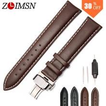 Black Brown Genuine Leather Mens Watchbands Watch Band Strap Stainless Steel Buckel Clasp 20mm 22mm 24mm 26mm Belt Metal Buckles