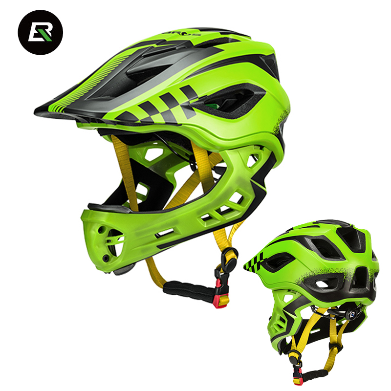 Rockbros Child Cycling Helmet Professional Kids Mountain Road Bike Helmet 2 in 1 Full Covered EPS Protect Safety Bicycle Helmet rockbros 2018 mtb cycling helmet 3 in 1 eps reflective bicycle helmet capacete breathable mountain bike adults helmet 6 colors