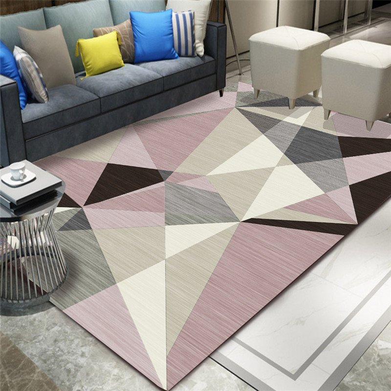Geometric Abstract Living Room Carpet Nordic Modern Minimalist Floor Mat Light Luxury Home European Coffee Table Rug