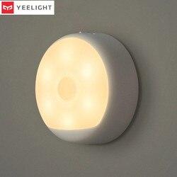 Nowy oryginalny Yeelight inteligentny akumulator LED korytarz lampka nocna pilot na podczerwień czujnik ruchu ludzkiego ciała światło