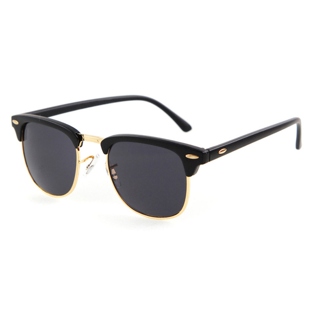 2017 Hot Raios Óculos De Sol Do Clube Das Mulheres Dos Homens 2017 Marca Designer Retro Óculos de Sol Da Moda Oculos Shades para o Sexo Masculino