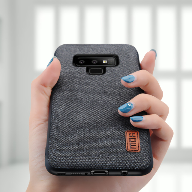 MOFi Samsung Galaxy Note 9 Luxury Fabric Shockproof Back Case Cover