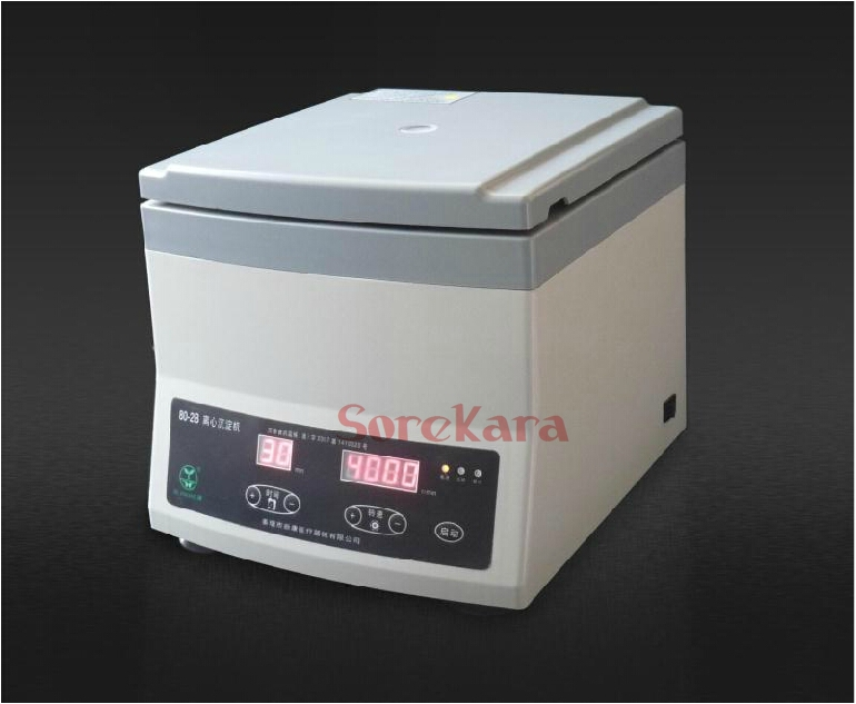 80-2B Lab centrifuge machine 300-4000RPM 12x20ml tubes timer digital display 100pcs 2ml polypropylene pp centrifuge tubes