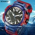 BOAMIGO Marke Männer Sport Digital Analog Uhren männer LED Dual Time Uhr Wasserdicht Schock Armbanduhren Relogio Masculino-in Digitale Uhren aus Uhren bei