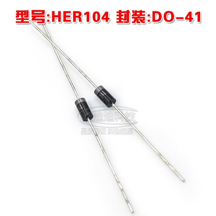 Новый her104 do-41 Быстрый выпрямительный диод Выход 300 В 1A сквозной