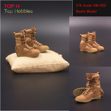 Sand 1 6 Female Soldier Desert Combat Boots Model Accessories VM 002 Lace Up Fits 12