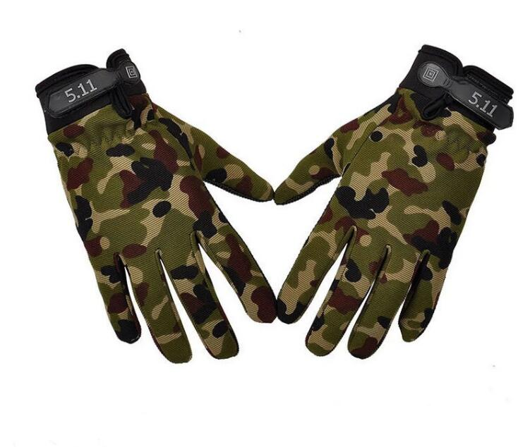 High Quality 4 Colors Brand Black Green series Men Full Finger Outdoor Cross Army nonslip Sports Cycling Bike Climbing Gloves