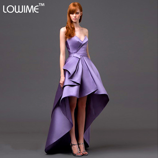 2016 Elegant Couture Evening Dresses Gowns Purple Formal Dresses ...