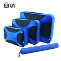 Weekend Bag Nylon Packing Cubes Clothes Lightweight Luggage Travel For Shirts Waterproof Duffle Free Shipping 4 Pcs/Set Unisex