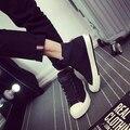 Primavera de los nuevos hombres Coreanos zapatos casuales de alta calidad zapatos de lona respirables deportes hombre de ganchos y lazos de zapatos de tamaño 39-43