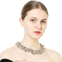 Crystal Clavicle Chain Rhinestone Necklace Boutique NecklaceEuropean and American Fashion Creative Accessories