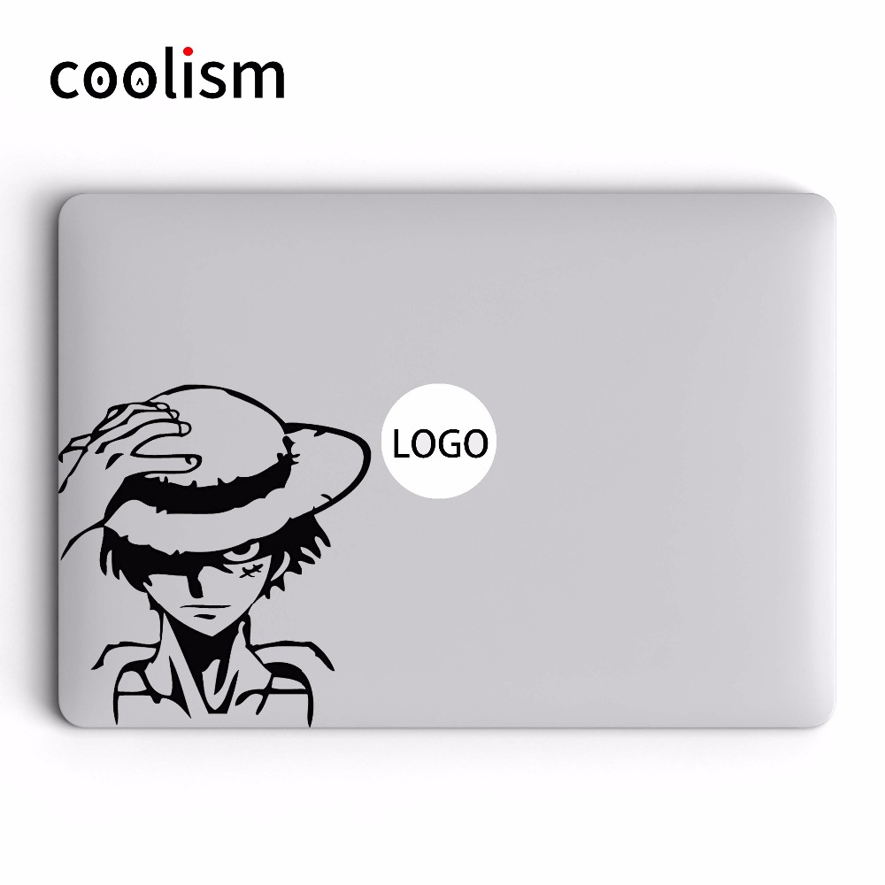 One piece luffy captain vinyl decal untuk apple macbook laptop sticker air 13 pro retina 11 12 15 17 inch mac mi buku kulit sticker di laptop skins dari