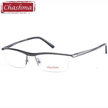 Chashma ใหม่อลูมิเนียมแมกนีเซียมคุณภาพสูงบุรุษกรอบแว่นตาครึ่งกรอบแว่นตาสำหรับชาย