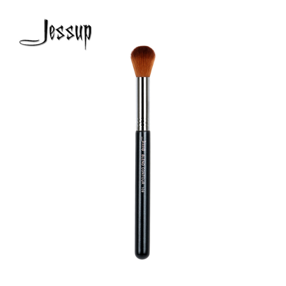 Jessup High Quality Materials Professional Face brush Makeup brushes Blend Contour brush 109 creativity essential oil blend true botanical 100% pure and natural undiluted high quality therapeutic grade blend of rosemary clary sage hyssop marjoram cinnamon 5 ml
