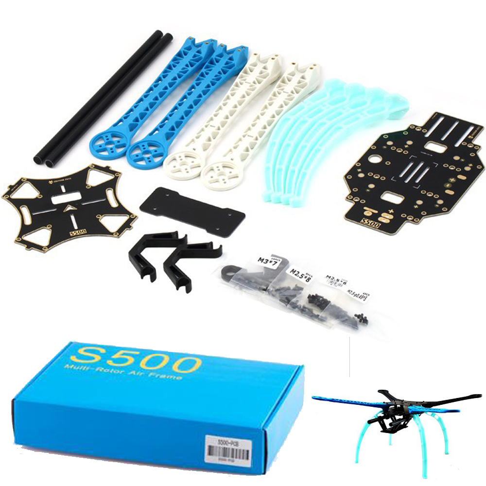 1 set New S500 Carbon Fiber Four Axis Qudcopter Frame  High Landing Gear for  F450 Upgrade Version FPV Qudcopter+Retail box джи штатив колеса полозья для посадки шестерни для f450 f550 sk480 самолетов qudcopter