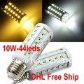 20pcs/lot Warm/Cool white 10W 44LED 5050 SMD E27 Corn Light Bulb 86-265V Energy Saving Lamp Free shippping DHL