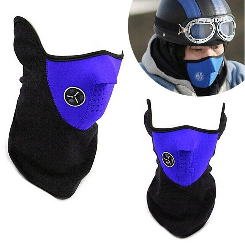 2017 New Winter Warm Fleece Motorcycle Face Mask Moto Snowboard Hood Windproof Bicyle Bike Cap Thermal
