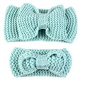 Mother and Baby Girl Bow Hairband Turban Knitted Hair Band Headband 2 PCS/lot
