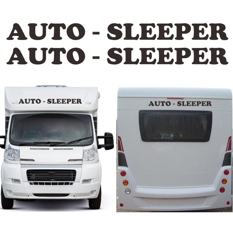 2 X Auto Sleeper Motorhome Caravan Travel Trailer Campervan Kit Decals Car Sticker