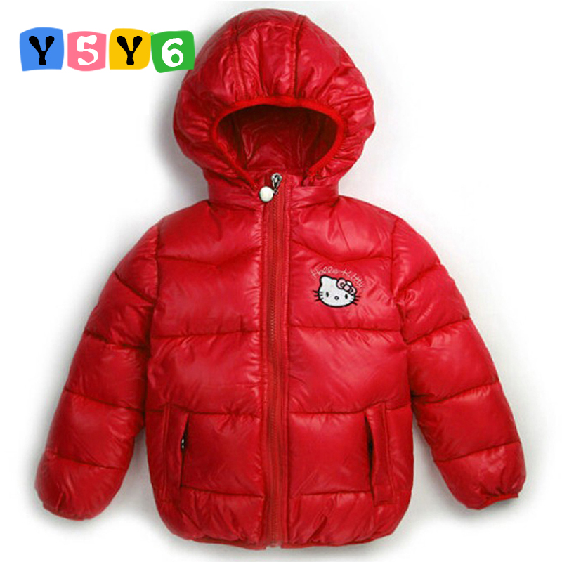 Détail 2-7Y Nouveaux Enfants Vêtements D'hiver Vêtements Filles Hello Kitty Cartoon Vestes Manteau Bébé Enfants Costume De Noël Vêtements