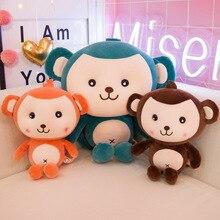 купить New Style Lovely Monkey Doll Soft Plush Toys Stuffed Animal Monkey Plush Doll Children Toys Kids Birthday Gifts по цене 854.52 рублей