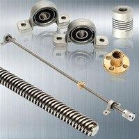Newest 3D Printer CNC T8 Lead Screw 500 Mm 8mm Brass Copper Nut KP08 Or KFL08