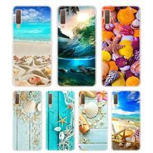Silicone Phone Case Sea Star Seashells Fashion Printing for Samsung Galaxy A8S A9 A8 Star A7 A6 A5 A3 Plus 2018 2017 2016 Cover silicone phone case army camo camouflage for samsung galaxy a8s a6s a9 a8 star a7 a6 a5 a3 plus 2018 2017 2016 cover