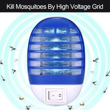 Plug-In insect Bug Zapper Electronic Mosquito Killer Lamp LED UV Light Flying Insect Trap US/EU Plug Pest Control Products