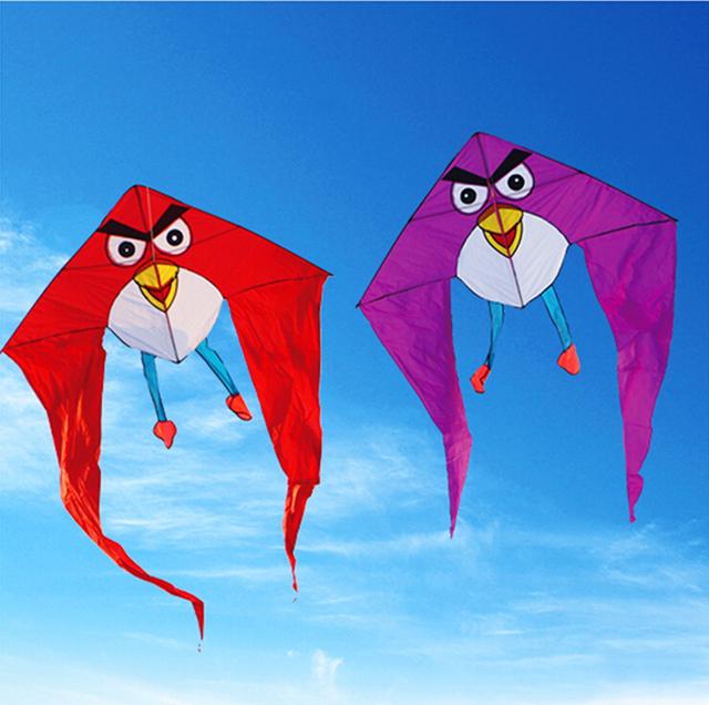 Envío de la alta calidad grande de aves cometas tela de nylon ecológico freindly con barra de control de línea de vuelo de la cometa juguetes al aire libre fábrica