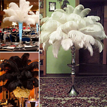 10 Pcs Ostrich Feathers Plume Centerpiece Wedding Party Table Decoration 30-35cm 2017ing  WXV Sale