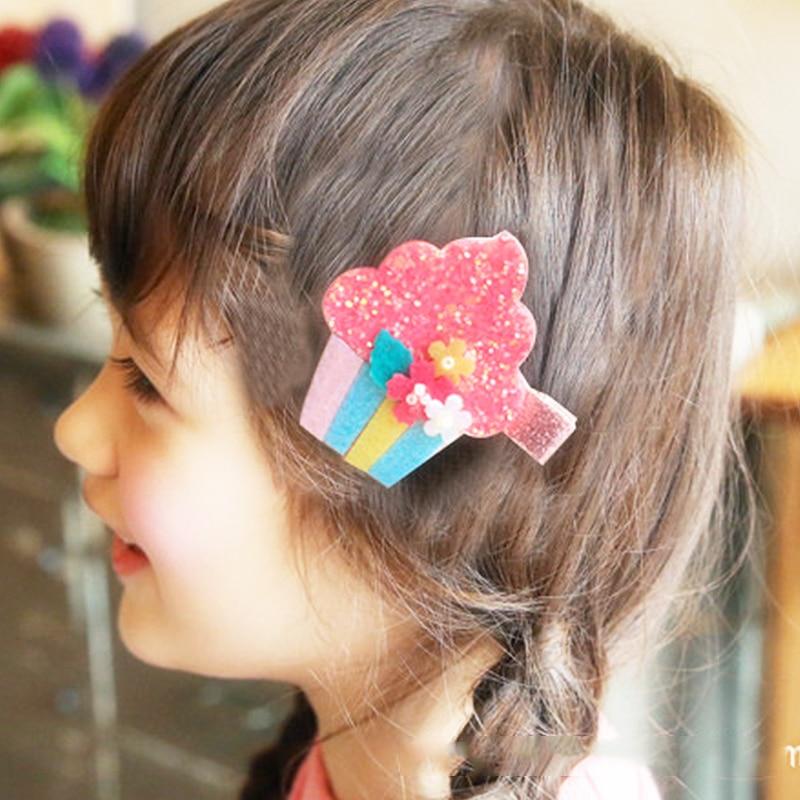 new 1 piece Hairpin Cute Fruit Coarse gold powder Korean version Children Side clip Ice cream Hairpin Hair accessories in Hair Accessories from Mother Kids