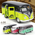 1:36 Klassieke Auto Speelgoed Ônibus Volkswagen Modellen Schaal Legering Ônibus Pão Porta Dupla Mini Carro ZEGT Speelgoed