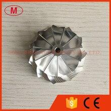K04 46.39/60.00mm 5306 123 2014 Aggiornamento 11 + 0 lame prestazioni millining/billet compressore ruota per 5304 970 0064 aggiornamento