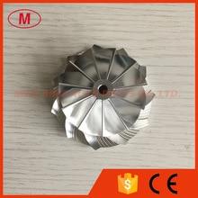 K04 46.39/60.00mm 5306 123 2014 Upgrade 11 + 0 blades prestaties millining/billet compressor wiel voor 5304 970 0064 upgrade