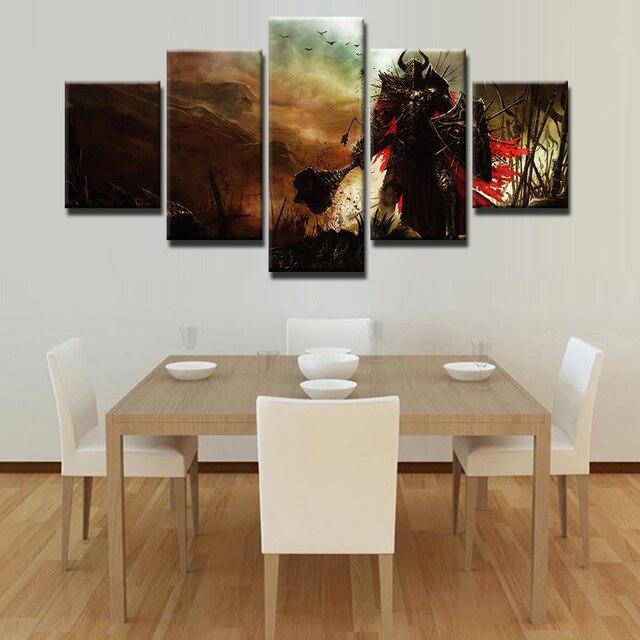 US $9.64 49% OFF|Unframed 5 Stücke Diablo 3 Malerei Leinwand Wandkunst  Modulare Bild Home Decoration Wohnzimmer Leinwand Gedruckt Moderne Malerei  in ...