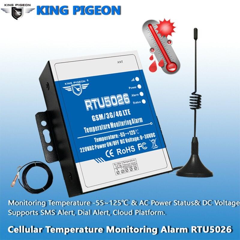 RTU5026 GSM Telemetry Temperature Monitoring Alarm Measuring -55 To 125 Celsius Degree Support Remote Reset Reboot By SMS RTU5026 GSM Telemetry Temperature Monitoring Alarm Measuring -55 To 125 Celsius Degree Support Remote Reset Reboot By SMS