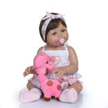 50cm Full Silicone Mini Silicone Baby Dolls Vinyl Reborn Babies Doll Girls 20inches Bonecas Play House Toys Photo Props Model