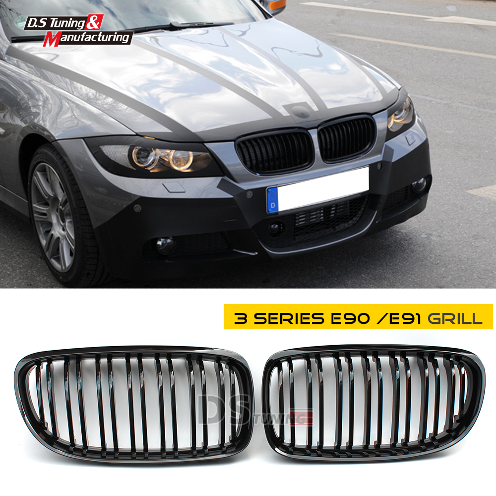 Replacement front kidney grills racing grille for bmw 3 series e90 e91 2008 2011 320i 318i 325i 328i lci 4 doors saloon