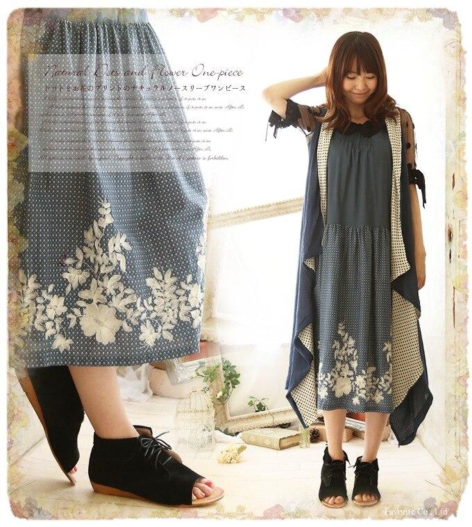 cotton dot print cute robe femme ete bohemian vestidos cortos ethnic saida de praia robe ete bayan elbise gothic floral dress