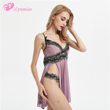 Transparent Nightgown Sexy Costumes Underwear