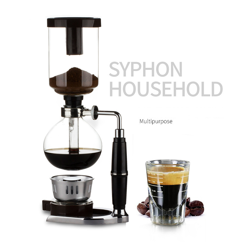 MICCK Syphon Pots Coffee Kettle Pot 3Cups/ 5Cups Coffee Maker Classic Glass Siphon Pot 3 Person Plug Pitcher Milk Jug
