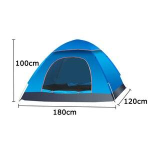 Image 5 - Großen wurf zelt im freien 3 4 personen automatische geschwindigkeit öffnen werfen pop up winddicht wasserdicht strand camping zelt große raum