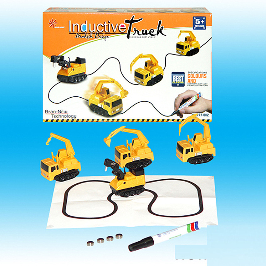 Magic Paintbrush Track Toy Car Creative Induction Car Excavator Tank Construction Car Child Birthday Gift