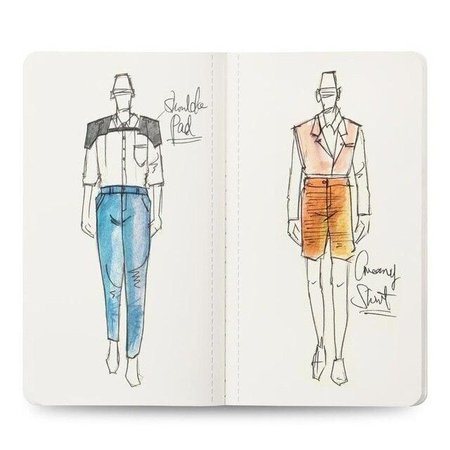 Mens Mini Neon Light Sketch Book Professional Professional Fashion