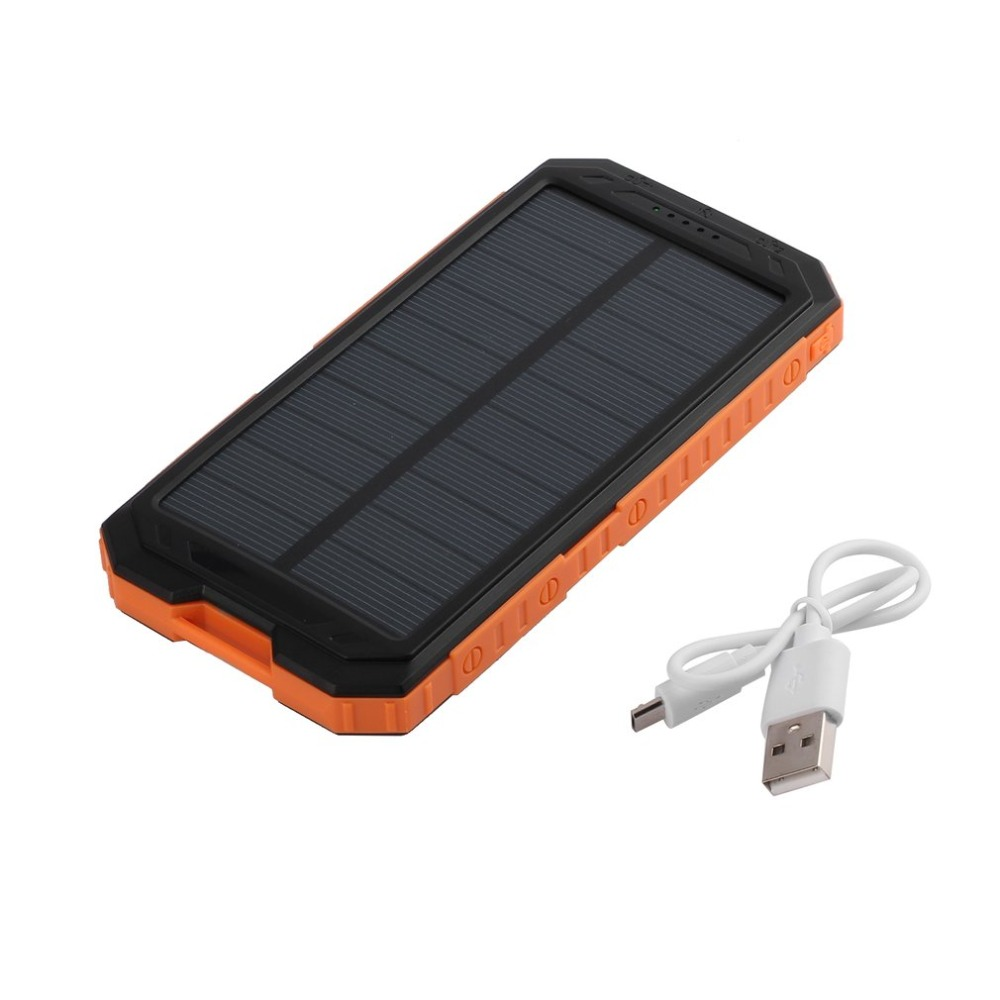 Leistungsstarke Solar Power Bank 30000 mah Tragbare Externe Ladegerät Handy Power 30000 mah Backup LED Poverbank
