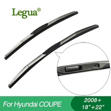 1 set Wiper blades for Hyundai COUPE(2008+),18+22,car wiper,3 Section Rubber, windscreen, Car accessory 1 set wiper blades for land rover discovery 3 2008 22 22 car wiper 3 section rubber windscreen car accessory