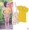Girls Clothing Set princess Girls Clothes Set Lovely short Toddler Girl T Shirt +  Pants Girls Suit Kids Clothes sets